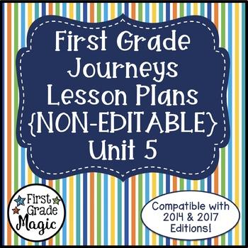 Journeys Lesson Plans First Grade Unit 5
