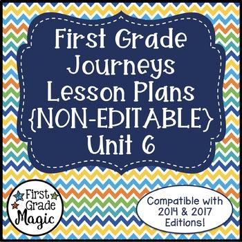 Journeys Lesson Plans First Grade Unit 6