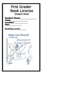 First Grade Reading License Bookmark