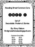 First Grade Reading Street Common Core: Unit 1 Decodable P