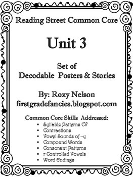 First Grade Reading Street Common Core: Unit 3 Decodable P