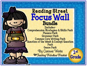 First Grade Reading Street Focus Wall Poster Bundle: Units 1--5