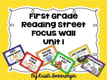 First Grade Reading Street Focus Wall Unit 1