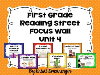 First Grade Reading Street Focus Wall Unit 4