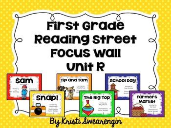 First Grade Reading Street Focus Wall Unit R