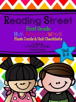 First Grade Reading Street HFW Take-Home Flashcards and Ch