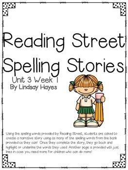 First Grade Reading Street Spelling Story Unit 3 Week 1