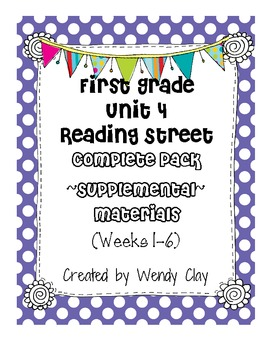 First Grade Reading Street Unit 4 Complete Pack of Supplem