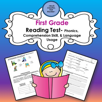First Grade Reading Test- Differentiation