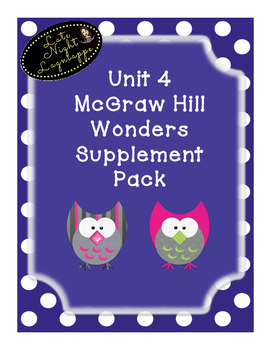 First Grade Reading Wonders HUGE supplemental Bundle for Unit 4