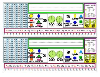 First Grade Resource Nametags {First Semester}