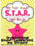 First Grade S.T.A.R. Book (Binder) Organizational Binder