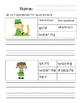 First Grade Sentence Writing Pack- St. Patrick's Day Theme