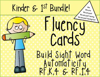 First Grade and Kindergarten Sight Word Fluency RF.1.4 Bundle
