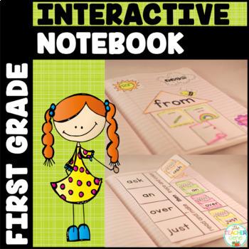 Sight Word Interactive Notebook Bundle: First Grade List