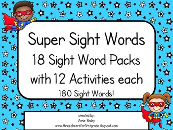 First Grade Sight Word Pack