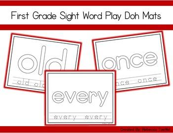 First Grade Sight Word Play Doh Mats