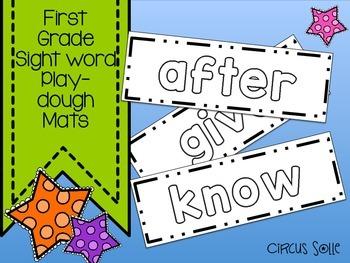 First Grade Sight Word Play Dough Mats