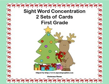 First Grade Sight Word Printable Concentration Game-Christ