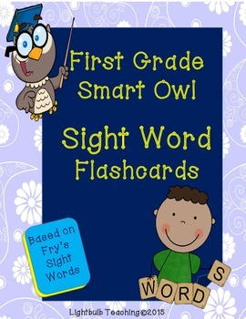First Grade Sight Words Flash Cards