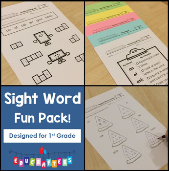 Sight Word Practice for 1st Grade - High-Frequency Word Fun Pack
