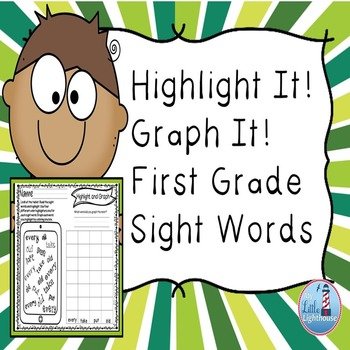 First Grade Sight Words (Highlight and Graph)