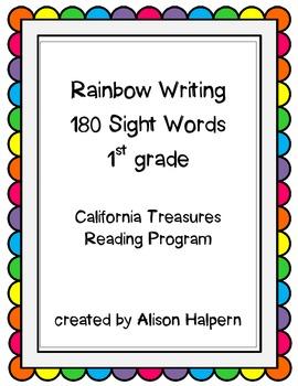 First Grade Sight Words Practice - Rainbow Writing