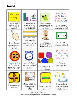 First Grade Skill Card