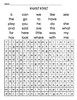 First Grade SmartStart Word Search