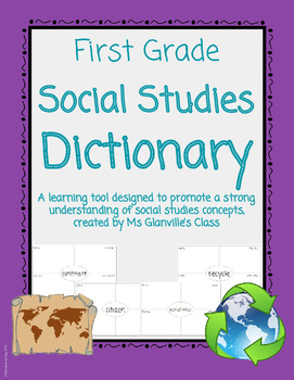 First Grade Social Studies Dictionary