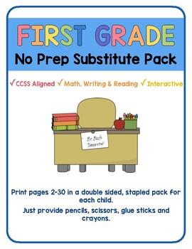 First Grade Sub Packet- No Prep!