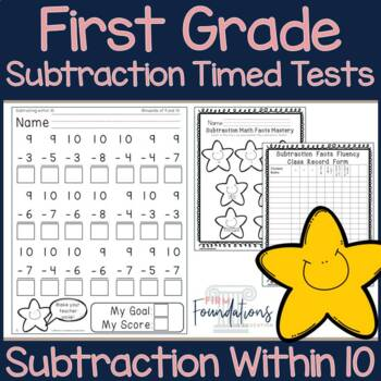 First Grade Subtraction Timed Tests {Subtraction within 10