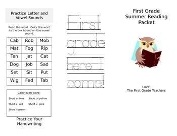 First Grade Summer Reading
