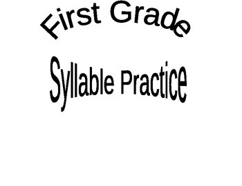 First Grade Syllable Practice Packet