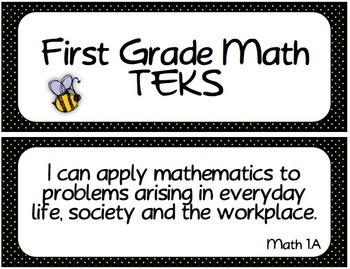 First Grade TEKS Bundle ~ Bee Theme