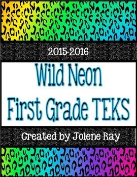 """First Grade TEKS """"We will"""" Statement Poster Bundle: Wild N"""