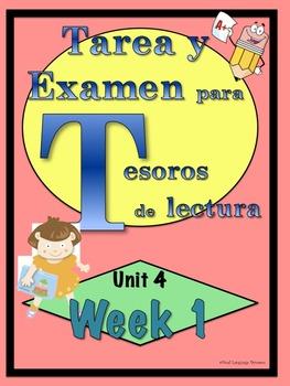 First Grade Tesoros de lectura Homework Package Bundle Uni