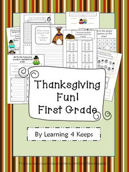 First Grade Thanksgiving Pack!