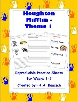 First Grade Theme 1 Houghton Mifflin Reproducibles