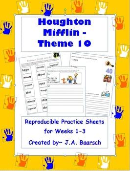 First Grade Theme 10 Houghton Mifflin Reproducibles