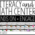 First Grade Themed Literacy & Math Centers for the Year: SET 2! Growing Bundle!