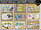 First Grade Themed Literacy and Math Centers for the Year