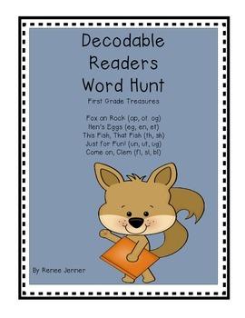First Grade Treasures Decodable Reader Word Hunts Unit 2