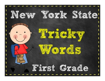 First Grade Tricky Words