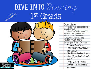 First Grade- Unit 3 Dive Into Reading, Interactive Read Al