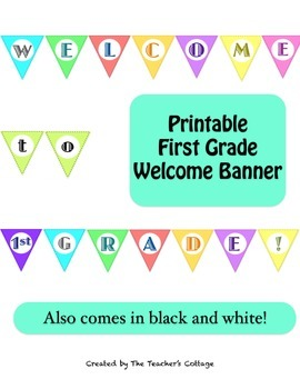 First Grade Welcome Banner