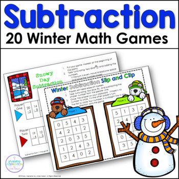 First Grade Winter Subtraction Games
