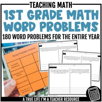 First Grade Word Problem 36 Week Curriculum GROWING BUNDLE
