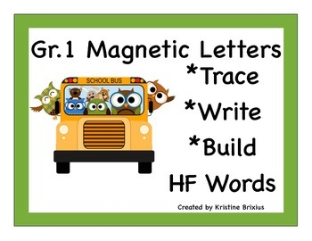 First Grade Write and Build Words with Magnetic Letters Sc