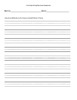 First Grade Writing Benchmark